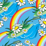 Arco iris de la primavera inconsútil Fotografía de archivo