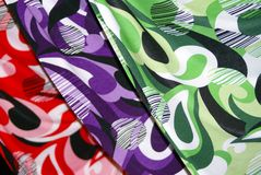 Arco iris de la ropa Foto de archivo