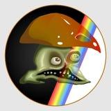 Arco iris de la seta del cráneo Imágenes de archivo libres de regalías