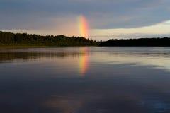 Arco iris de la tarde Fotos de archivo