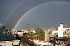 Arco iris de la tarde sobre Mustafapasha Fotos de archivo libres de regalías