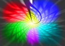 Arco iris de la turbina Fotografía de archivo libre de regalías
