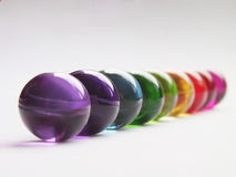 Arco iris de las bolas del baño Foto de archivo libre de regalías