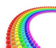 Arco iris de las esferas Imagen de archivo libre de regalías