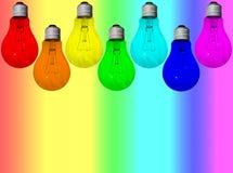Arco iris de las lámparas Foto de archivo libre de regalías