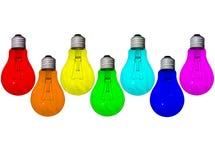 Arco iris de las lámparas imágenes de archivo libres de regalías