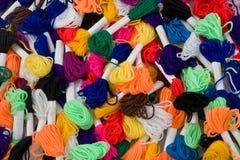 Arco iris de las lanas Imágenes de archivo libres de regalías