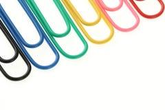 Arco iris de los clips de papel Fotografía de archivo