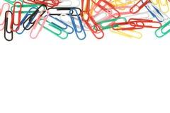 Arco iris de los clips de papel Imagenes de archivo