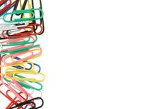 Arco iris de los clips de papel imagen de archivo