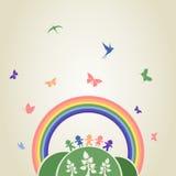 Arco iris de los niños Fotografía de archivo libre de regalías