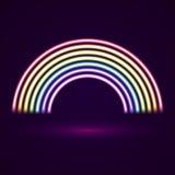 Arco iris de los tubos de neón