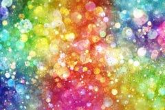 Arco iris de luces Imagen de archivo libre de regalías
