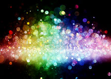 Arco iris de luces Imagen de archivo