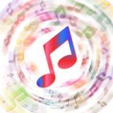 Arco iris de notas Imagen de archivo