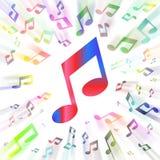 Arco iris de notas Fotografía de archivo libre de regalías