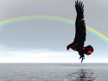 Arco iris del águila Foto de archivo libre de regalías
