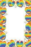 Arco iris del amor alrededor del marco libre illustration