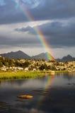 Arco iris del desierto Foto de archivo libre de regalías