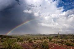 Arco iris del desierto Fotografía de archivo