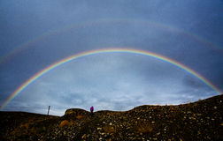 Arco iris del doble de Tíbet Fotos de archivo libres de regalías