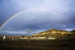 Arco iris del doble de Tíbet Fotografía de archivo libre de regalías