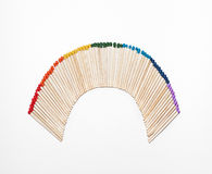 Arco iris del emparejamiento fotos de archivo libres de regalías