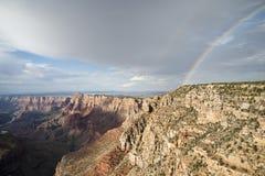 Arco iris del Gran Cañón, América Fotos de archivo