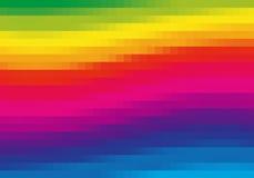 Arco iris del pixel Imágenes de archivo libres de regalías