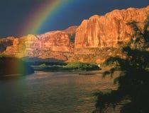 Arco iris del río Colorado Fotografía de archivo