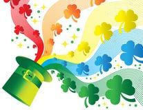 Arco iris del trébol Imagen de archivo libre de regalías