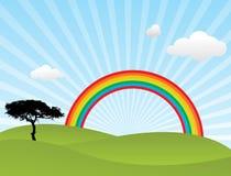 Arco iris del vector Fotografía de archivo libre de regalías