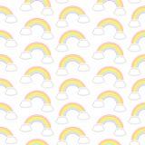 Arco iris diagonales y nubes del gráfico inconsútil del modelo ilustración del vector