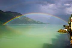 Arco iris doble Foto de archivo libre de regalías