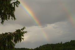 Arco iris doble Fotografía de archivo