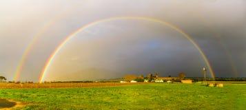 Arco iris doble increíble III Foto de archivo