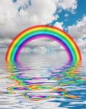 Arco iris en agua ilustración del vector