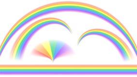 Arco iris en diversa forma ilustración del vector