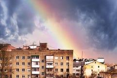 Arco iris en el cielo Imágenes de archivo libres de regalías