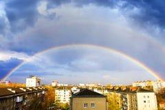 Arco iris en el cielo Foto de archivo