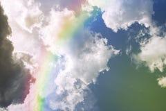 Arco iris en el cielo Foto de archivo libre de regalías