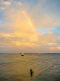 Arco iris en el fondo del mar Fotografía de archivo libre de regalías