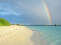 Arco iris en el fondo del mar Imagen de archivo libre de regalías