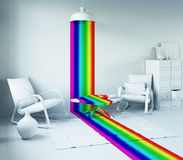 Arco iris en el interior ilustración del vector