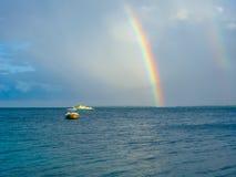 Arco iris en el mar Fotografía de archivo libre de regalías