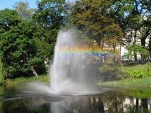 Arco iris en el parque Fotos de archivo libres de regalías