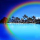 Arco iris en Isla Mauricio - África Fotos de archivo