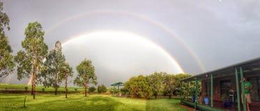 Arco iris en Jondaryan Australia Fotos de archivo libres de regalías