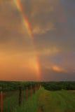 Arco iris en la puesta del sol Imágenes de archivo libres de regalías