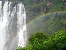 Arco iris en las caídas de Victora Foto de archivo libre de regalías